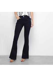 Calça Jeans Zune Flare Feminina - Feminino-Azul