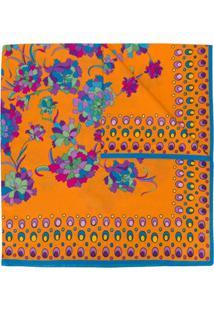 La Doublej Echarpe Com Estampa Floral - Laranja