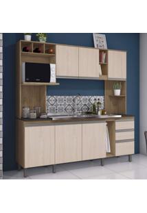 Cozinha Compacta 7 Portas 2 Gavetas Jasmine Siena Móveis Trama