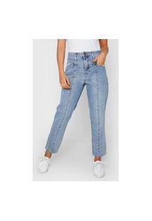 Calça Jeans Calvin Klein Jeans Reta Recorte Azul