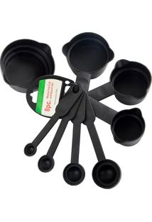 Kit Conjunto 8 Colheres Medidoras Xícara Medidas Thata Esportes