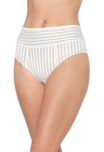 Calcinha Valisere Hot Pant Tela Off-White