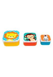 Kit Pote Infantil Colorido Animais (3 Unidades) - Buba Toys - Tamanho Único - Multicolorido