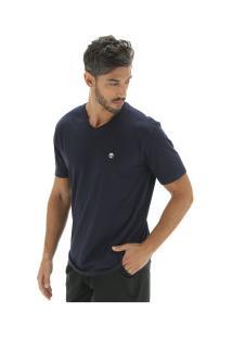 Camiseta Timberland Dunstan River V Neck Tee - Masculina - Azul Escuro
