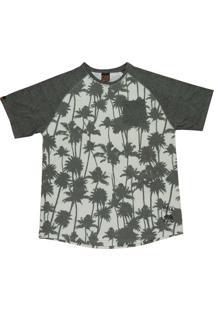 Camiseta Cnx Raglan Palm Tree La Verde