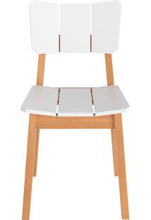 Cadeira Uma - Natural Com Branco