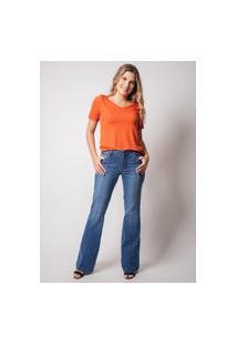 Calça Jeans Skinny Pau A Pique Básica Azul