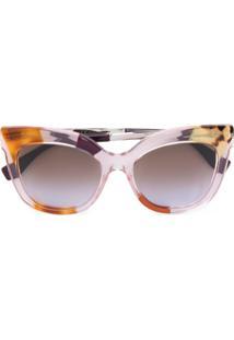 Fendi Eyewear Óculos De Sol Gatinho - Marrom