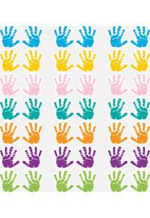 Adesivo De Parede Infantil Mãos Coloridas 8X9Cm 42Un