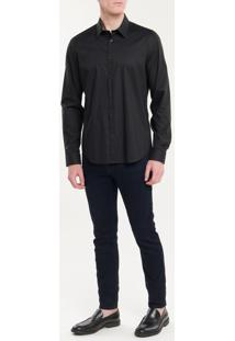 Camisa Calvin Klein Extra Slim Simples - Preto Camisa Calvin Klein Extra Slim Simples Preto - 2