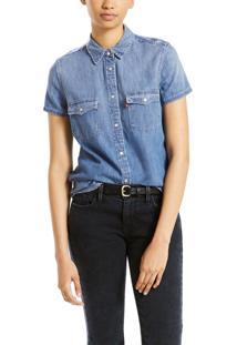 Camisa Levis Larissa Western Azul Azul