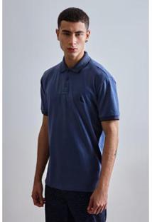 Camisa Polo Pf Elastano Prim 19 Reserva Masculina - Masculino-Azul