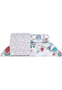 Colcha Ultrassonic Solteiro Com Porta Travesseiro Natura