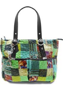 Bolsa Melina Clover Em Patchwork Original - Multicolorido - Feminino - Dafiti