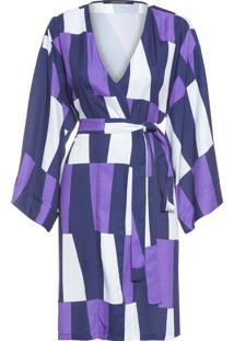 Robe Feminino Triângulos - Roxo