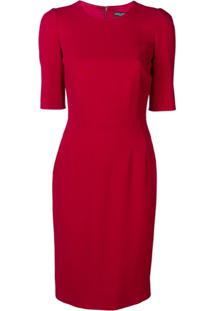 Dolce & Gabbana Vestido Mangas 3/4 - Vermelho