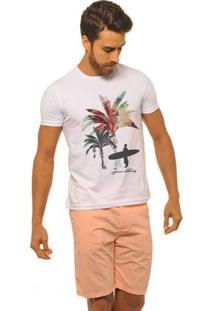 Camiseta Joss Premium New Coqueiro Masculina - Masculino-Branco