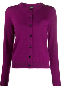 Ps Paul Smith Cardigan Slim De Tricô - Rosa
