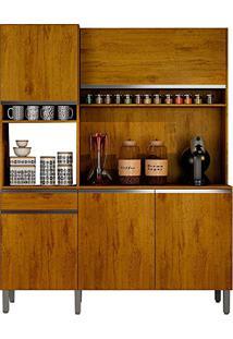 Armário De Cozinha 5 Portas E 1 Gaveta Sevilha Cedro Rústico Sallêto