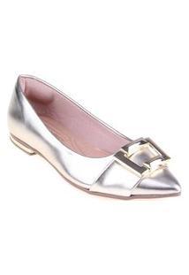 Sapatilha Shop Shop Shoes Verniz Cor:Douradotamanho:39 Cobre