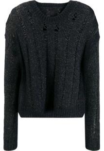 Uma Wang Distressed Knit Sweater - Marrom