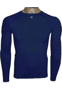 Camiseta Manga Longa Kanxa Térmica / Segunda Pele Azul-Marinho