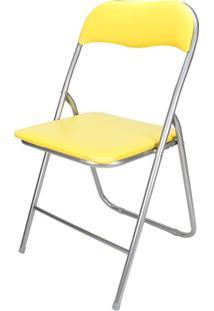 Cadeira Em Aço Dobrável 44X90Cm Amarela