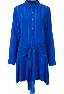 Eva Vestido Chemise De Seda - Azul