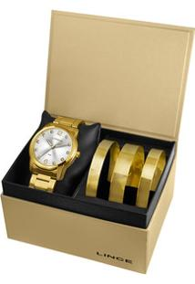 Kit Relógio Feminino Strass Lince Lrg4391L K191S2Kx