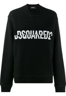 Dsquared2 Blusa De Moletom Com Logo - Preto
