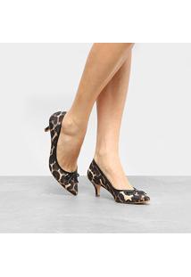 Scarpin Shoestock Salto Médio Laço