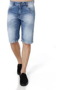 Bermuda Jeans Masculina Mokkai Azul