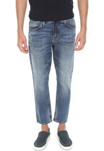 Calça Jeans Colcci Slim Cropped John Azul