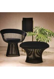Puff Platner Assento Estofado Estrutura Em Aço Nolan Collection Design By Warren Platner