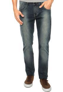Calça Jeans Hurley 84 Slim Azul