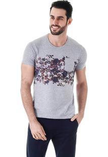 Camiseta Floral Masculina Metropolitan - Cinza