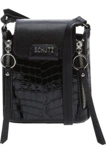 Crossbody Rollis Croco Black | Schutz