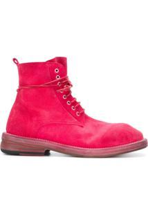 Marsèll Ankle Boot De Camurça Com Cadarço - Rosa