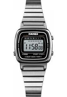 Relógio Feminino Skmei Digital Feminino - Feminino-Prata