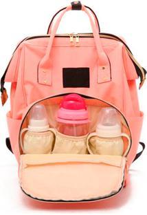 Mochila Mala Bolsa Maternidade Multiuso Multifuncional Mamadeira Rosa Pink