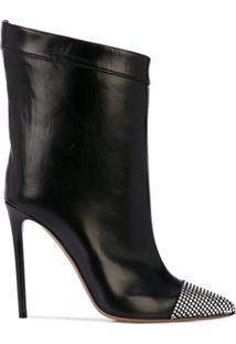 Alexandre Vauthier Ankle Boot Com Aplicação De Cristais - Preto