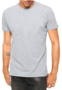 Camiseta Criativa Urbana Lisa Básica - Masculino-Cinza