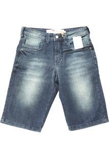 Bermuda La Rossi Reta Azul Jeans