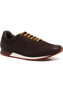 Sapatênis Zariff Shoes Casual Couro - Masculino-Marrom