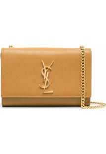 Saint Laurent Bolsa Tiracolo Kate Com Logo - Marrom