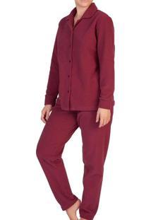 Pijama Feminino Podiun 215145 Vinho-Malbec