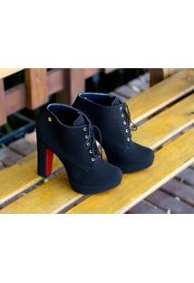 Ankle Boot Dm Extra Nobuck Preto Dme179437 Np Numeração Especial 41, 42 E 43