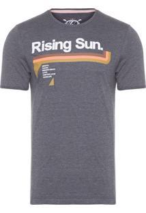 Camiseta Masculina Rising Sun - Cinza