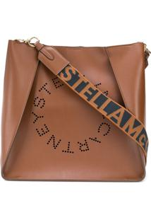Stella Mccartney Bolsa Tiracolo Com Logo Stella - Marrom