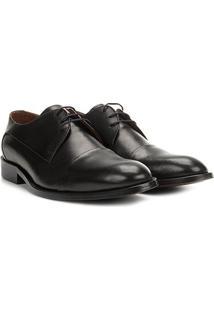 Sapato Social Couro Richards Toe Office Masculino - Masculino-Preto